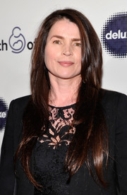 Julia Ormond wore her super-long hair down in straight layers when she attended the March of Dimes celebration of Babies Luncheon.