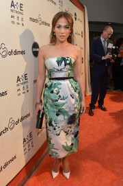 Jennifer Lopez brought a whiff of spring to the March of Dimes celebration of Babies Luncheon with this lovely Bibhu Mohapatra strapless dress.
