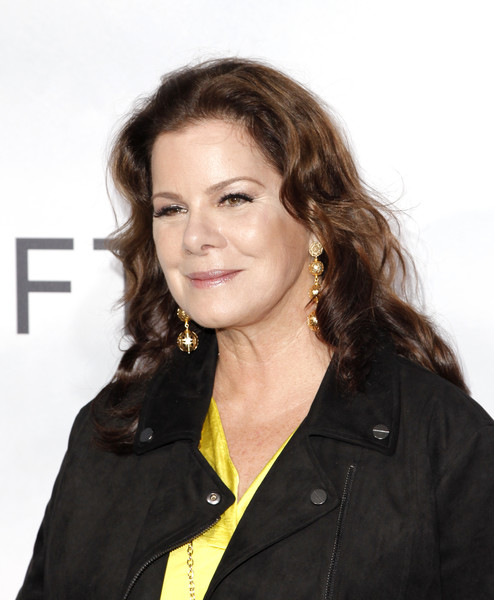 Marcia Gay Harden Long Curls [hair,hairstyle,long hair,brown hair,layered hair,smile,white-collar worker,feathered hair,california,los angeles,regal la live stadium,premiere,premiere,stx films ``adrift - arrivals,marcia gay harden]