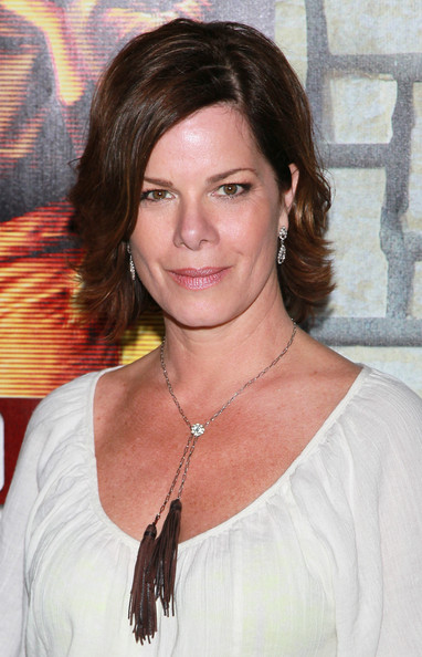 Marcia Gay Harden Layered Razor Cut [cinema verite,hair,face,hairstyle,eyebrow,layered hair,chin,brown hair,beauty,lip,long hair,arrivals,marcia gay harden,paramount theater,california,hollywood,hbo films,premiere,premiere]
