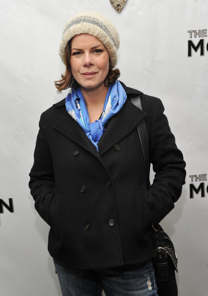 Marcia Gay Harden Knit Beanie [the book of mormon,face,fashion,beanie,outerwear,knit cap,headgear,human,jacket,cap,photography,opening night - arrivals,marcia gay harden,curtain call,broadway,eugene oneill theatre,new york city]