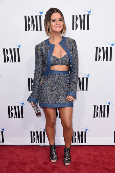 Maren Morris Cutout Boots [clothing,red carpet,carpet,fashion,premiere,shoulder,hairstyle,dress,electric blue,flooring,arrivals,maren morris,bmi country awards,awards,nashville,tennessee,bmi country]