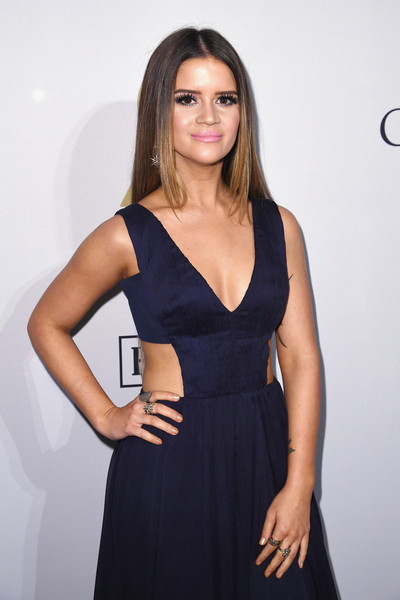 Maren Morris Silver Ring [clothing,dress,black,cocktail dress,little black dress,fashion model,beauty,fashion,hairstyle,model,maren morris,debra lee - arrivals,debra lee,salute to industry icons,california,los angeles,the beverly hilton,pre-grammy gala]