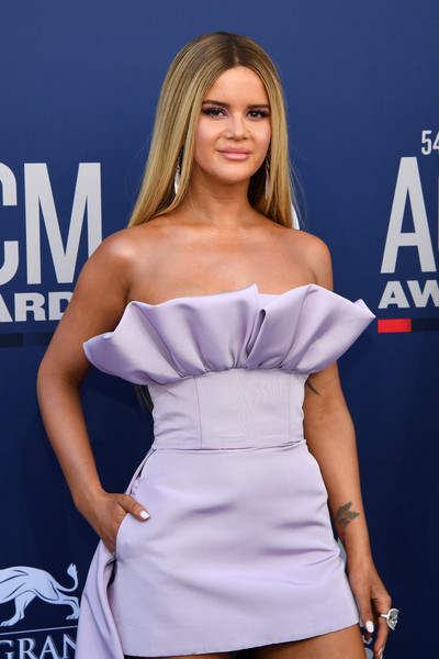 Maren Morris Statement Ring [clothing,model,beauty,blond,dress,premiere,fashion,shoulder,long hair,mouth,arrivals,maren morris,mgm grand hotel casino,nevada,las vegas,academy of country music awards]