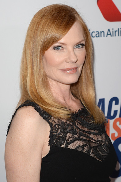 Marg Helgenberger Long Straight Cut with Bangs