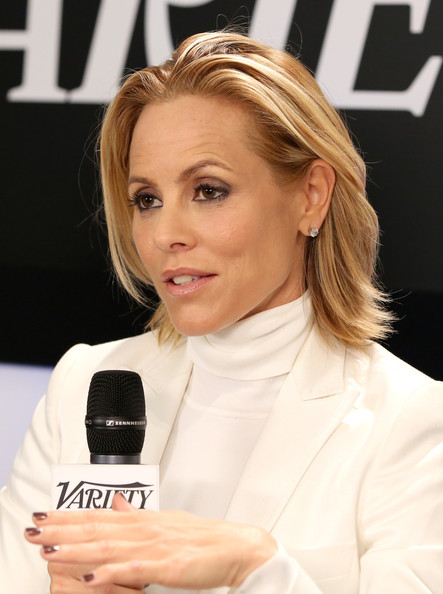 Maria Bello Medium Layered Cut