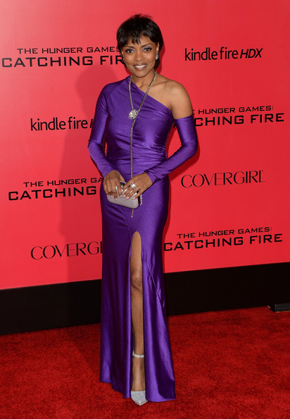 Maria Howell One Shoulder Dress [the hunger games: catching fire,clothing,carpet,dress,shoulder,formal wear,red carpet,gown,flooring,premiere,event,arrivals,maria howell,california,los angeles,nokia theatre l.a. live,lionsgate,premiere]