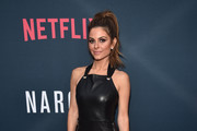 Maria Menounos Leather Dress