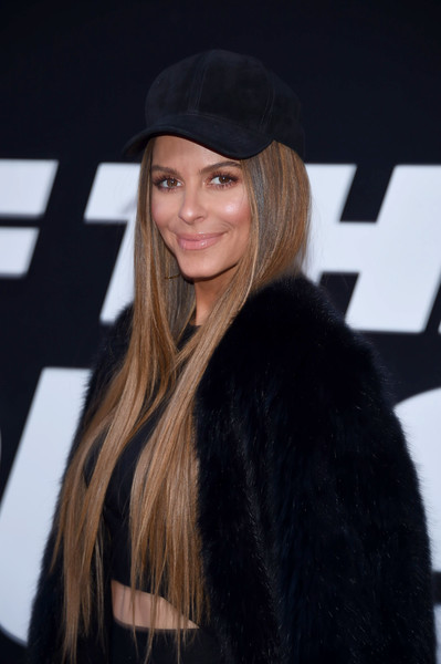 Maria Menounos Long Straight Cut [the fate of the furious,hair,clothing,hairstyle,fur,beauty,long hair,blond,lip,fur clothing,headgear,maria menounos,new york city,radio city music hall,new york premiere]