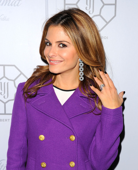 Maria Menounos Dark Nail Polish
