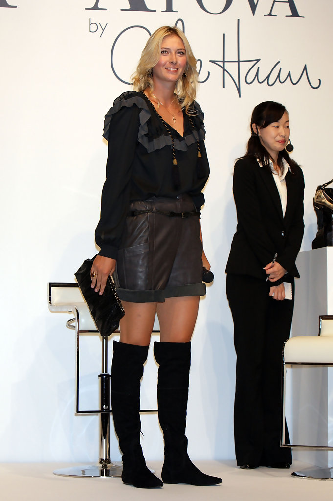 More Pics Of Maria Sharapova Over The Knee Boots 18 Of 24