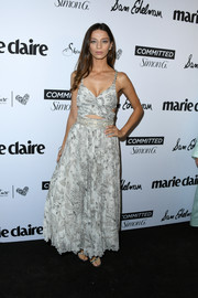 Angela Sarafyan was boho-glam in a cutout maxi dress by Etro at the 2018 Marie Claire Fresh Faces event.