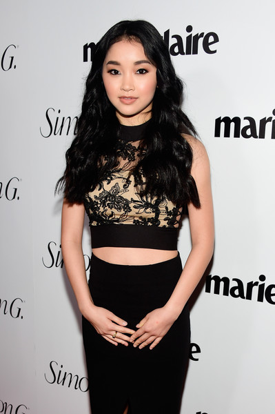 More Pics of Lana Condor Pencil Skirt (5 of 5) - Dresses & Skirts Lookbook - StyleBistro [clothing,crop top,shoulder,dress,joint,long hair,waist,neck,top,eyelash,marie claire hosts,lana condor,cver stars,marie claire,fresh faces,cover stars,issue,california,party,red carpet]