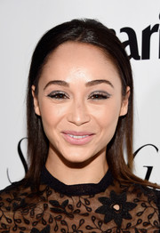 Cara Santana opted for loose, unstyled hair when she attended the Marie Claire Fresh Faces party.