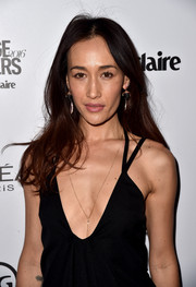 Maggie Q let her hair loose with a long, wavy cut at the Marie Claire's Image Maker Awards.