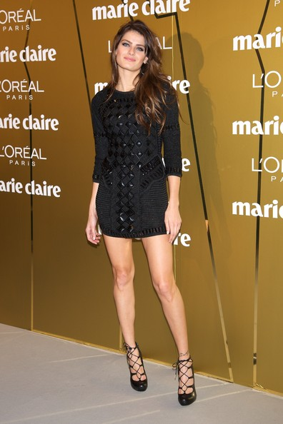 More Pics of Isabeli Fontana Long Straight Cut with Bangs (1 of 6) - Long Straight Cut with Bangs Lookbook - StyleBistro
