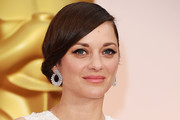 Marion Cotillard Diamond Hoops