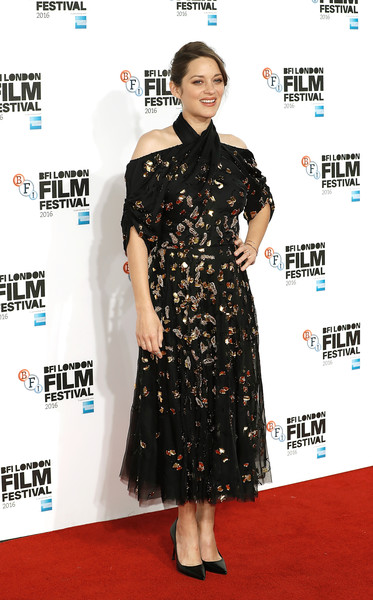 Marion Cotillard Beaded Dress