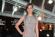 Marion Cotillard Print Dress