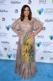 Mariska Hargitay looked ethereal in a watercolor-print gown by Valentino at the Joyful Revolution Gala.