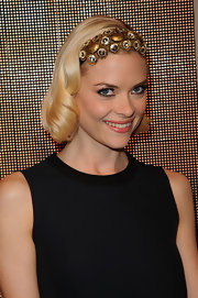 Jaime King adorned her blond locks with this jeweled headband at the Marni for H&M collection launch.