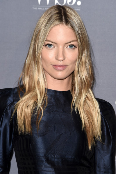 Martha Hunt Long Wavy Cut