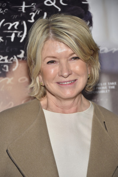 Martha Stewart Bob [the man who knew infinity,hair,face,hairstyle,blond,eyebrow,chin,forehead,lip,layered hair,feathered hair,screening - arrivals,martha stewart,new york,cinemas,new york screening,chelsea bow tie]