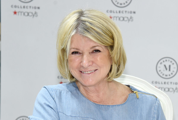 Martha Stewart signed copies of her new book, 'Martha's Flower's,' wearing this classic bob.