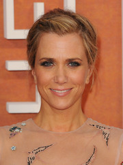 Kristen Wiig attended the European premiere of 'The Martian' rocking a mildly messy updo.