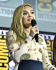 Florence Pugh showed off a stylish statement ring at the San Diego Comic-Con International 2019.