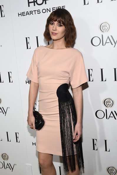 Mary Elizabeth Winstead Cocktail Dress [annual women in television celebration,mary elizabeth winstead,hearts on fire,clothing,dress,shoulder,cocktail dress,hairstyle,joint,little black dress,premiere,fashion,fashion model,california,sunset tower,west hollywood,elle,olay]