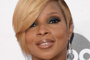 Mary J. Blige Side Parted Straight Cut