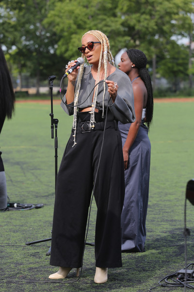 More Pics of Solange Knowles Long Braided Hairstyle (1 of 39) - Solange Knowles Lookbook - StyleBistro