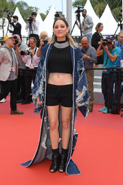 Marion Cotillard took a major risk with these black Ludovic de Saint Sernin shorts on the Cannes Film Festival red carpet.