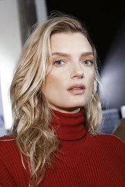 Lily Donaldson walked the Max Mara show wearing her hair in messy curls.