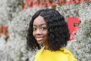 Skai Jackson attended the InStyle Max Mara Women in Film celebration wearing a curly lob.