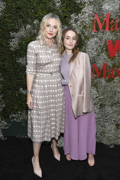More Pics of Kaitlyn Dever Long Sleeve T-Shirt (1 of 6) - Kaitlyn Dever Lookbook - StyleBistro [clothing,fashion,dress,pink,event,fashion design,fun,photography,flooring,haute couture,elizabeth debicki,2019 women in film max mara face of the future,max mara celebrates,laura brown,kaitlyn dever,l-r,chateau marmont,los angeles,california,instyle]