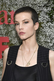 Sylvia Hoeks looked tough with her buzzcut at the InStyle Max Mara Women in Film celebration.