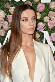 Angela Sarafyan wore her hair long and straight at the 2017 Face of the Future event.