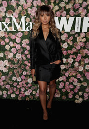Kat Graham looked sharp in a black tuxedo dress by Max Mara at the 2017 Face of the Future event.
