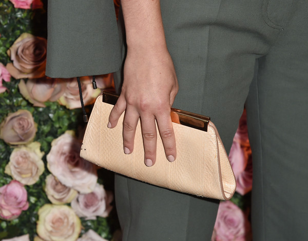 More Pics of Isabelle Fuhrman Hair Knot (1 of 6) - Isabelle Fuhrman Lookbook - StyleBistro [max mara celebrates zoey deutch,the 2017 women in film max mara face of the future,isabelle fuhrman,pink,fashion,hand,beige,nail,leather,finger,fashion accessory,haute couture,bag,chateau marmont,california,los angeles,max mara]