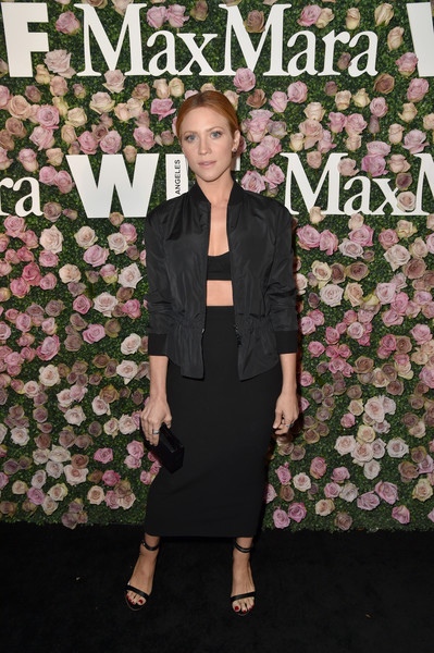 More Pics of Brittany Snow Zip-up Jacket (2 of 2) - Tops Lookbook - StyleBistro [max mara celebrates zoey deutch,the 2017 women in film max mara face of the future,brittany snow,clothing,suit,fashion,formal wear,dress,footwear,carpet,outerwear,premiere,event,chateau marmont,california,los angeles,max mara]