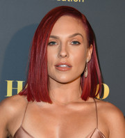 Sharna Burgess rocked a bright red lob at the Maxim Hot 100 Experience.