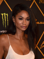 Chanel Iman wore her hair in teased layers during the Maxim Hot 100 Party.