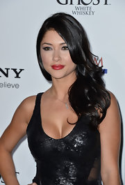 Arianny Celeste wore her hair in long curls at the Maxim Hot 100 Party.