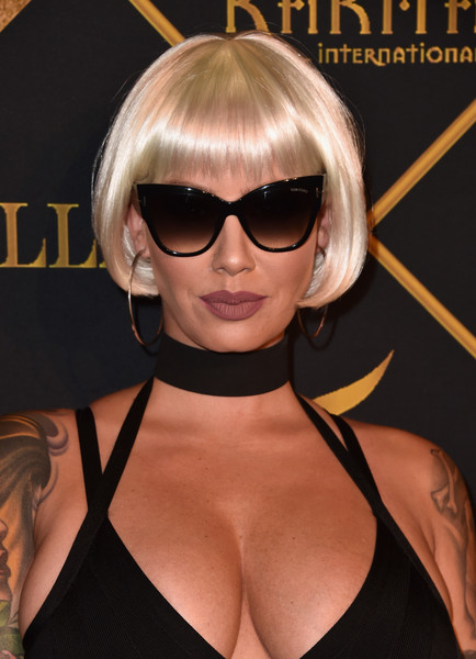 Amber Rose ditched her signature buzz cut in favor of this cute bob for the Maxim Hot 100 Party.