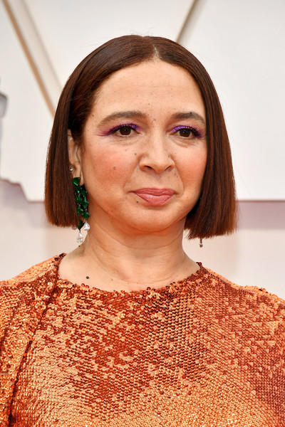 Maya Rudolph Bob [hair,face,eyebrow,hairstyle,head,beauty,skin,chin,lip,forehead,arrivals,maya rudolph,hollywood,highland,california,92nd annual academy awards,maya rudolph,saturday night live,academy awards,actor,celebrity,academy award for best costume design,beyonc\u00e9]