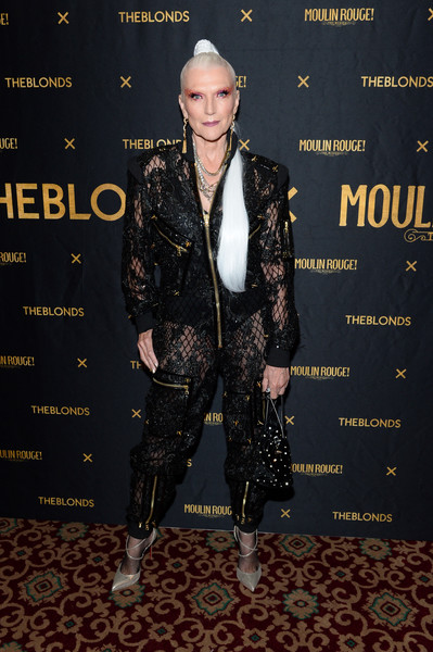 Maye Musk Evening Pumps [the shows,shows,the blonds,suit,fashion,fashion design,formal wear,premiere,carpet,tuxedo,performance,moulin rouge,maye musk,musical - front row,new york city,blonds,new york fashion week]