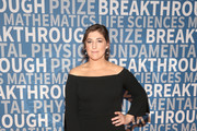 Mayim Bialik Off-the-Shoulder Dress