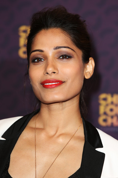 More Pics of Freida Pinto Ponytail (4 of 10) - Freida Pinto Lookbook - StyleBistro